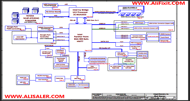 Acer V7-581 Compal LA-A001P schematic